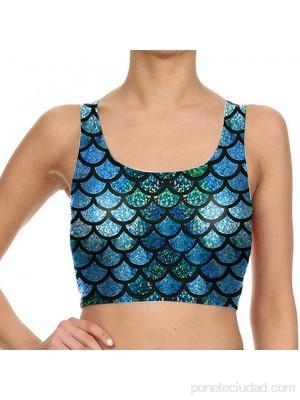 Belsen - Leggings elásticos para mujer diseño escamas de sirena. .es Ropa y accesorios