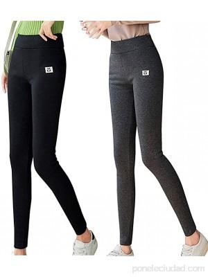 Heyzen Thick Cashmere Wool Leggings Pants Women Winter High Waist Warm Pants Slim Stretch Jeggings Sweatpants Large Size Black M .es Ropa y accesorios