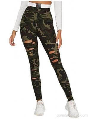 Leggings Mujer Fitness  SHOBDW Estampado De Camuflaje con Agujeros De Moda Legging Yoga Mujer Deportivos Ajustados Pantalones Rotos Pantalones Chandal Mujer Baratos .es Ropa y accesorios