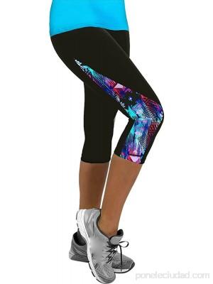 LANSKIRT Leggins Push Up Mujer Damas Floral Deportes Yoga Ropa Fitness Leggings Gym 3 4 Slim Cropped Pants Mallas Gimnasio .es Ropa y accesorios