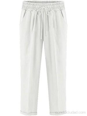 Mujeres Pantalones Verano Elástico Cintura con Cordón Casuales Tallas Grandes .es Ropa y accesorios