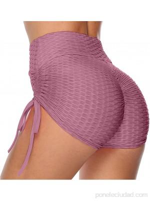 Huiben Leggings Cortos TIK-Tok para Mujer Pantalones Cortos con Pliegues con Textura de Cintura Alta Pantalones Cortos con Levantamiento de glúteos y cordón Lateral .es Ropa y accesorios