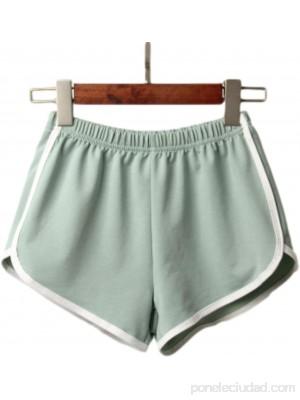 Pantalones Cortos para Mujer Verano Casual Moda Pantalones Cortos Deportivos Vacaciones en la Playa Ocio en la Playa Pantalones Cortos Holgados y cómodos M .es Ropa y accesorios