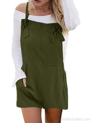 ACHIOOWA Mujer Peto de Trabajo Largo Pantalones Elegante Peto Mujer Mono Vaquero Fiesta Noche Oficina 3-Verde XXL .es Ropa y accesorios