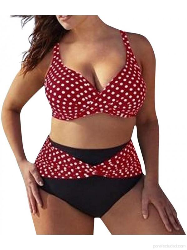 Bikinis Mujer Tallas Grandes LANSKIRT Trajes de baño con Estampado de Puntos para Mujeres bañadores Casual Conjunto de Bikini Tangas Dos Piezas para Playa Verano Tankini S-5XL .es Ropa y accesorios