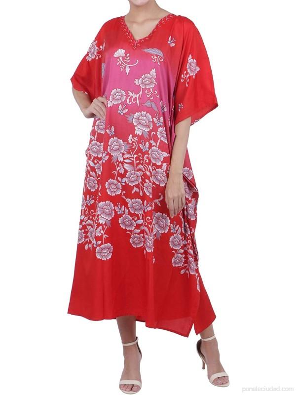 Miss Lavish London Kaftan Sayo Múltiple Tamaños Incluyendo Más tamaño Playa Cubrir para Arriba Maxi Vestido Ropa de Dormir Estiloso e Atractivo Kimono [K134] .es Ropa y accesorios