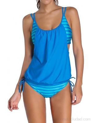 Traje baño Mujer Push Up Tankini Dos Piezas Vestido baño Vientre para Mujer Conjuntos Bikini Estampados con Braguitas Bikini Ajustables S-3XL XXL F Mujer FR ES Regular Regular .es Ropa y accesorios