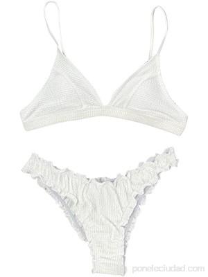 TYTUOO Sexy Bikinis Sets para mujer dos piezas traje de baño de verano para mujer cintura media traje de baño irregular teñido .es Ropa y accesorios