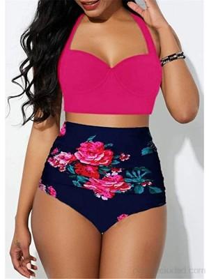 B H Impresión Inferior Traje de baño Bikini Traje de baño de Talla Grande de Cintura Alta Traje de baño de Mujer Bikinis Traje de baño Sexy Mujer Verano Bañador Retro Cintura Alta .es Ropa y accesorios