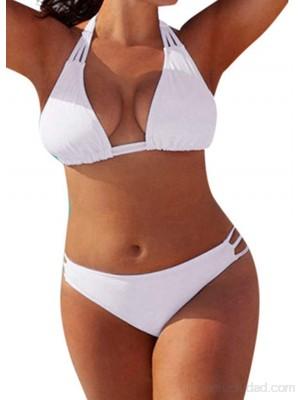Traje De Baño De Gran Tamaño Sexy con Escote Hueco Dividido para Mujer Verano  Bañador Sólido Talla Grande de Dos Piezas Natación Piscina Traje de Playa para Bañador Tankini .es Ropa y accesorios