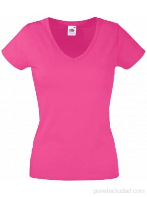 Camiseta Fruit of the Loom SS047 con cuello en V ajustada para mujer Ropa y accesorios