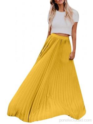 Falda Plisada Larga para Mujer Estilo Cintura Falda Casual para el Verano Mujeres Gasa Retro Largo Maxi Falda .es Ropa y accesorios