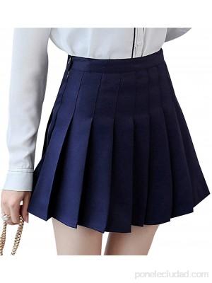 Geagodelia Falda corta a cuadros para mujer cintura alta falda plisada uniforme uniforme escolar falda sexy patinadora tenis con forro .es Ropa y accesorios